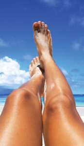 Sunscreen on Your Feet