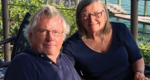Ellen Hofmann, pictured with her husband Gerhard, enjoys an active lifestyle following carotid artery surgery and minimally invasive heart valve surgery with Venice Regional's heart team.