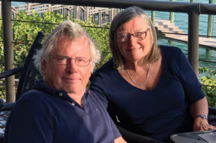 Ellen Hofmann, pictured with her husband Gerhard, enjoys an active lifestyle following carotid artery surgery and minimally invasive heart valve surgery with Venice Regional's heart team.